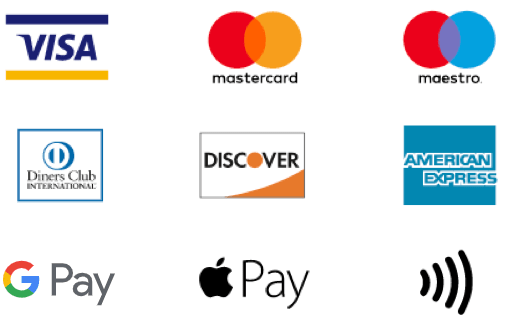 Visa payment terminals, Mastercard card machine, maestro payment terminal, american express card machine, diners contactless payments, diners club payment machine, discover card machine, apple pay contactless payments, Google Pay contactless payments,