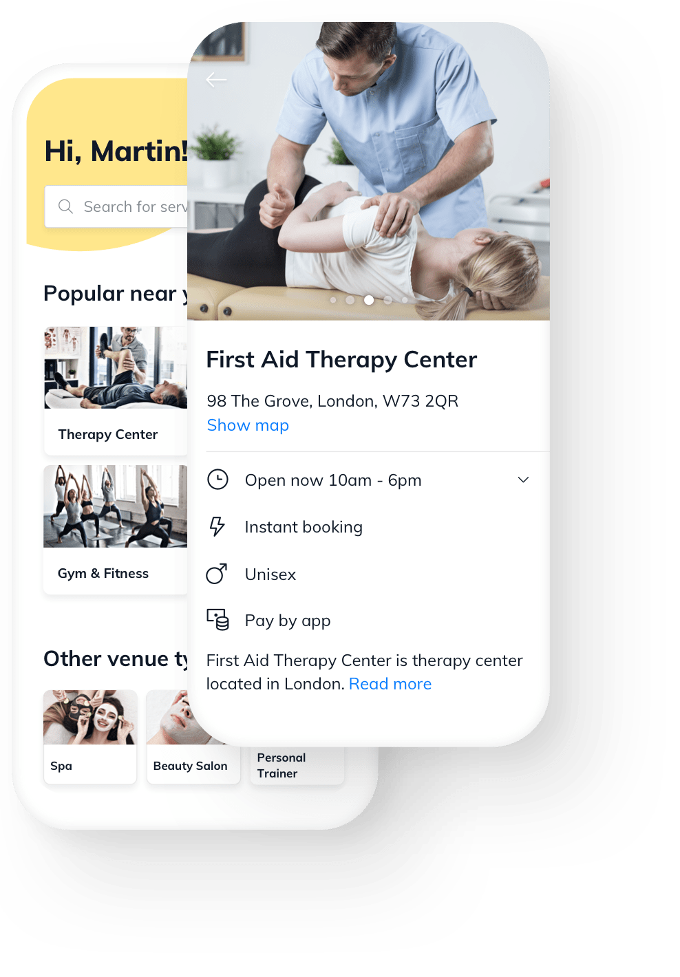 Therapy Center online booking free software