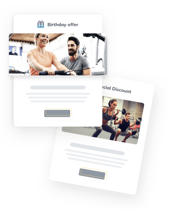 Personal Trainer marketing automation & smart online marketing software, newsletters, sms and push messages