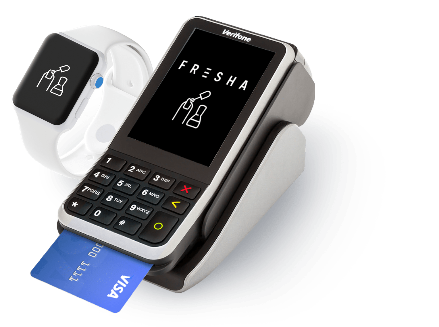 Nail Salon payment terminal, payment processing and online payments solution