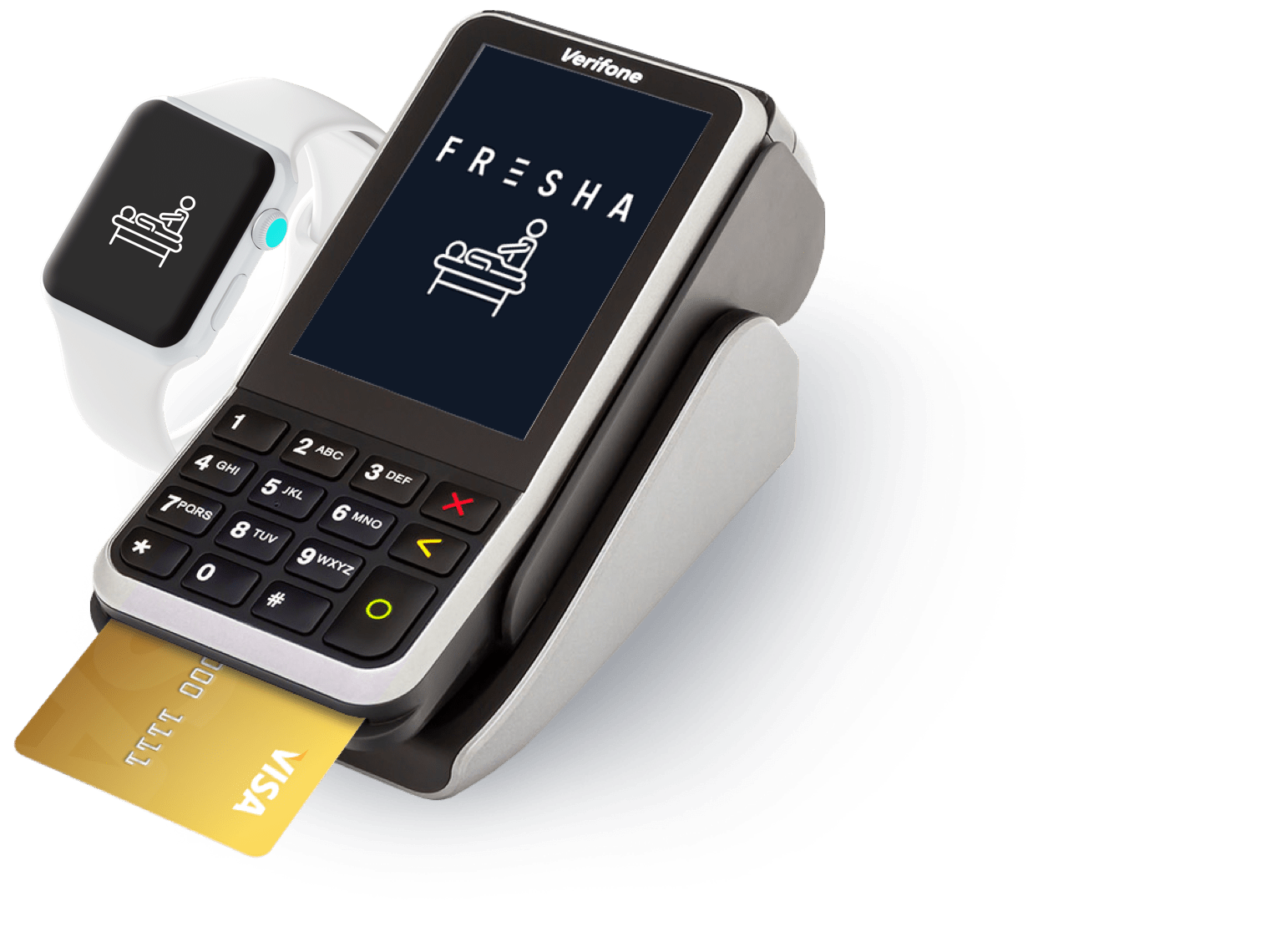 Massage payment terminal, payment processing and online payments solution
